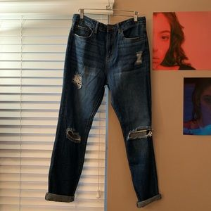 NWT Forever 21 Distressed Boyfriend Jeans